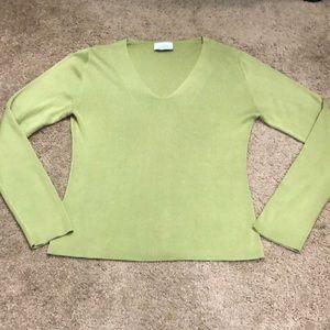 Loft green sweater size medium